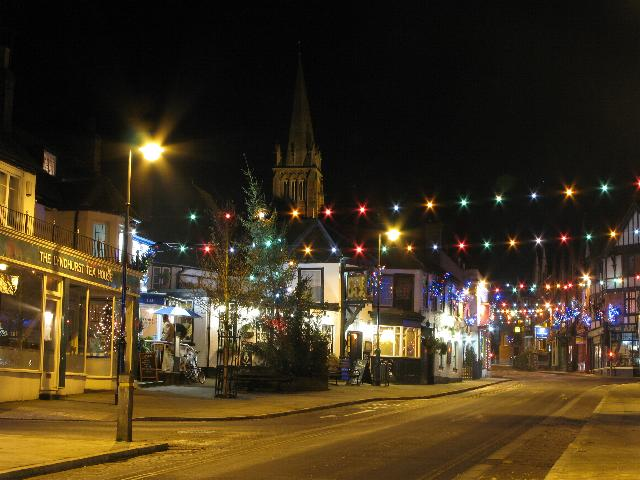 Christmas Lights at Lyndhurst High Street